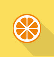 orange flat icon with shadow vector image