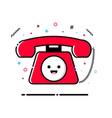 phone mbe style kawaii icon vector image vector image