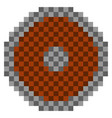 pixelated shield icon vector image
