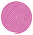 purple and white round abstract vortex hypnotic vector image