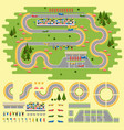 race track curve road vector image vector image
