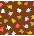 seamless pattern cups vector image vector image