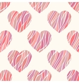 seamless pattern with wavy hearts vector image vector image
