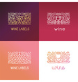 set logo design elements and signs for wine vector image vector image