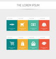 set of 8 editable business icons includes symbols vector image vector image