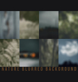 Set of blurred backgrounds nature vector image
