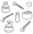 set of forceps alcohol and sterile cotton vector image