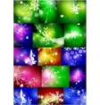 Set of shiny color Christmas backgrounds with vector image vector image