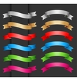 Set ribbon banner for your text