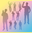 silhouette people business vector image