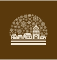 snow globe town vector image