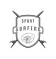 sport surfing logotype vector image vector image