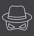 spy line icon incognito and agent vector image
