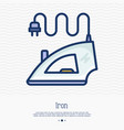 steam iron thin line icon vector image vector image