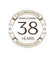 thirty eight years anniversary celebration logo vector image vector image