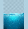 transparent underwater blue ocean vertical banner vector image