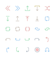 User Interface Colored Line Icons 24 vector image vector image