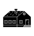 village building black icon concept village vector image