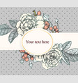 vintage background victorian hand drawn rose vector image vector image