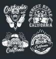 vintage skateboarding emblems vector image vector image