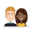 young couple characters icon vector image vector image