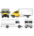 set truck template cargo van vector image