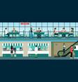 fast food restaurant vector image