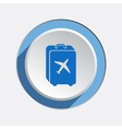 Airport baggage icon Hand luggage for traveling vector image vector image