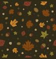 autumn seamless pattern background vector image
