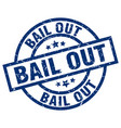 bail out blue round grunge stamp