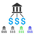 bank payments flat icon vector image vector image