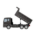 black dump truck isolated on a white background vector image vector image