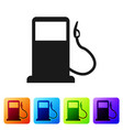 black petrol or gas station icon isolated on white vector image