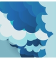 Blue sky clouds vector image vector image