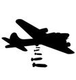 bomber plane silhouette vector image
