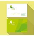 Business Card Qualitative elegant logo vector image vector image