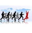 Business people competition vector image vector image