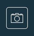 camera outline symbol premium quality isolated vector image vector image