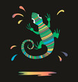 chameleon splash paint vector image