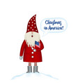 christmas card template festive holidays in in vector image