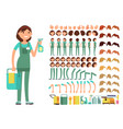 cleaning company employee woman cleaner vector image vector image