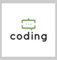 coding talk logo vector image