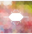 Colorful abstract triangular pastel pattern vector image
