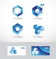 Corporate business set vector image vector image