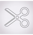 cut scissors icon vector image