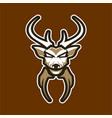 deer logo badge for sport esport game vector image