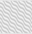 diagonal white texture of abstract waves vector image vector image