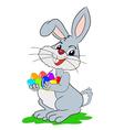 Easter cartoon rabbit vector image