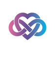 eternal love conceptual sign symbol created with vector image