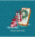 festive year concept holiday online vector image vector image